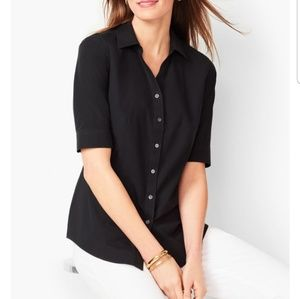 "Talbots black ""perfect shirt"" elbow-sleeve length"